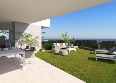 New Build Apartments - La Duquesa - Garden with Sea View