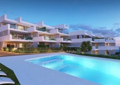 New Build Apartments La Duquesa - Pool with Sea View