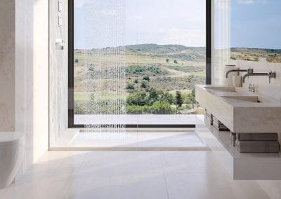 Valle Romano Villas - Estepona - Bathroom with Mountain and Golf Views